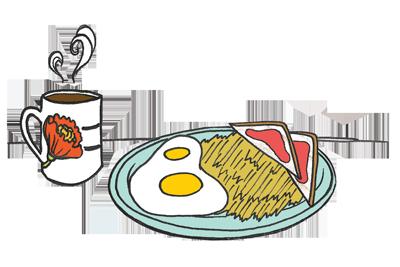 Breakfast Art design by Brenda Dunn