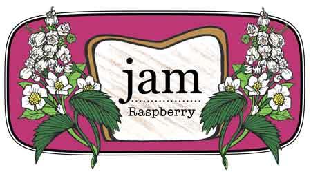 Jam label Raspberry